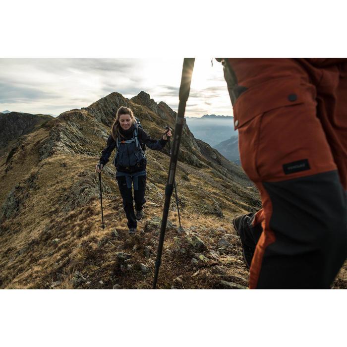 Afritsbroek voor bergtrekking Trek 500 dames blauw