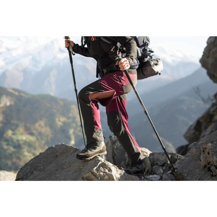 Pantalón trekking montaña TREK 900 mujer burdeos