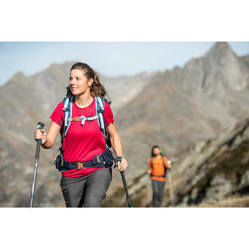 Afritsbroek voor bergtrekking Trek 100 dames donkergrijs