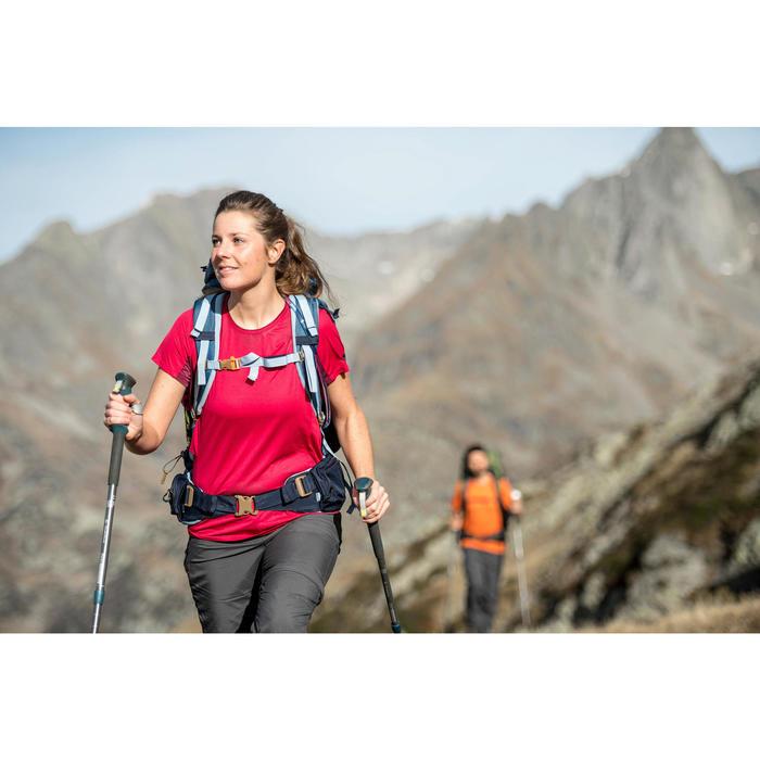 Pantalon modulable trekking montagne TREK 100 femme gris foncé - 1287523