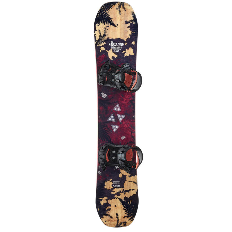 Non-slip adhesive pads for snowboard boards