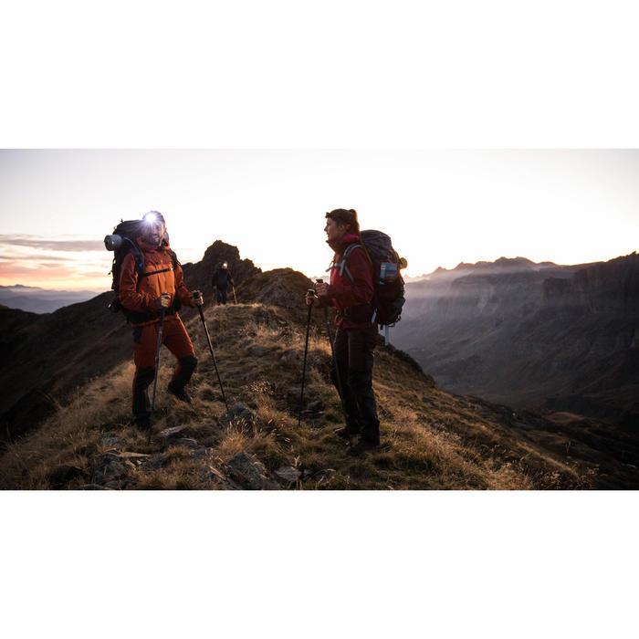 Dames overbroek voor bergtrekking Trek 500 donkergrijs