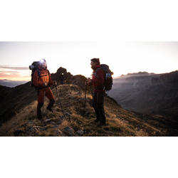 Waterdichte damesjas voor bergtrekking Trek 500 roze