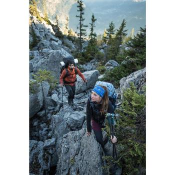 Sac à dos trekking montagne TREK900 70 L +10 L SYMBIUM femme bordeaux