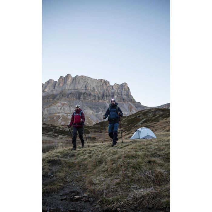 Sur-pantalon imperméable trekking montagne TREK500 femme Gris Foncé
