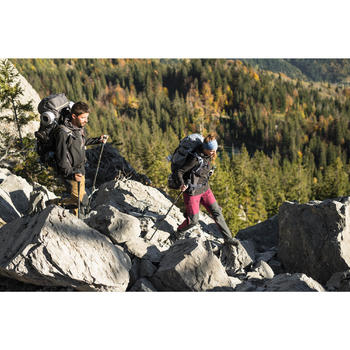 Sac à dos montagne TREK 900 70+10 femme bordeaux - 1287591