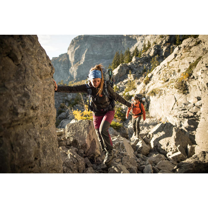 Pantalón de Montaña y Trekking Forclaz Trek900 Mujer Burdeos