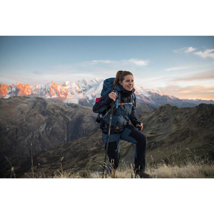 Chaqueta impermeable trekking montaña TREK 500 mujer azul