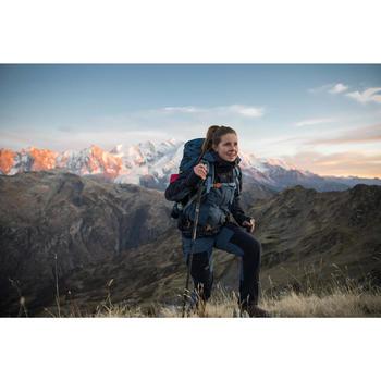 Pantalón Desmontable de Montaña y Trekking Trek 500 Mujer Azul