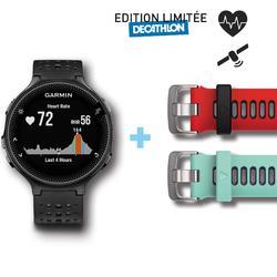 Gps-horloge pols hartslagmeting Forerunner 235 HRM zwart grijs (limited edition)