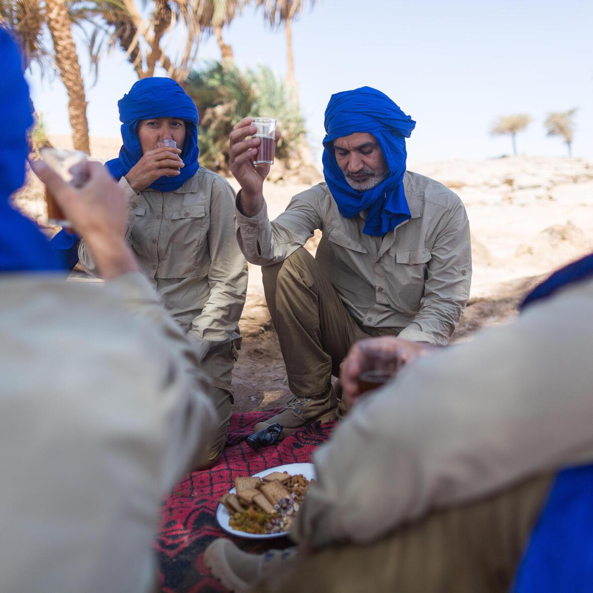 repas dans le désert