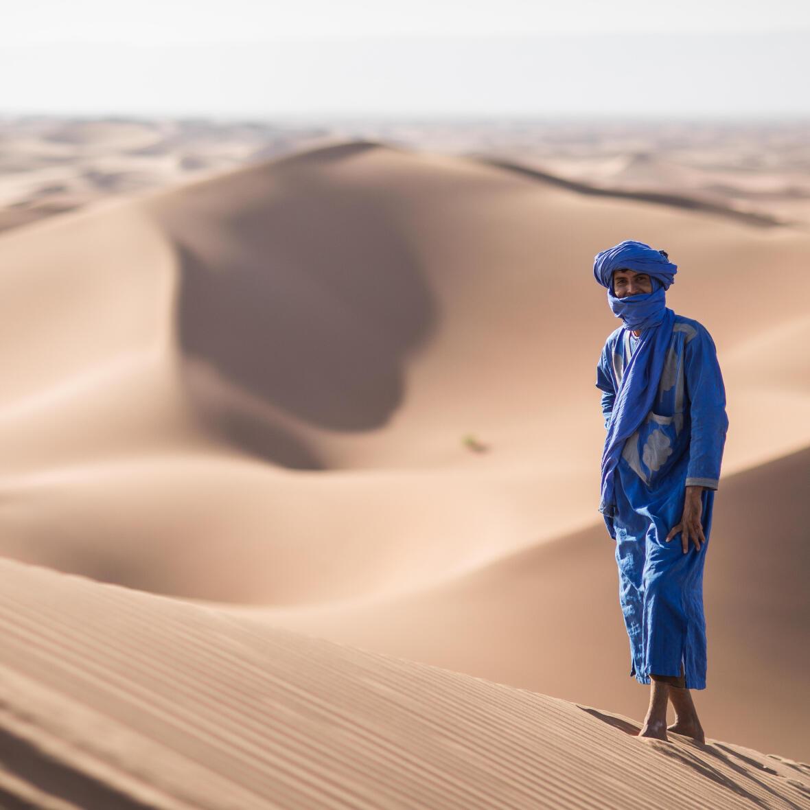 Bédouin Touareg du Sahara au Maroc