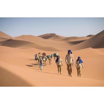 Trekkingbluse Langarm Desert 500 Damen beige