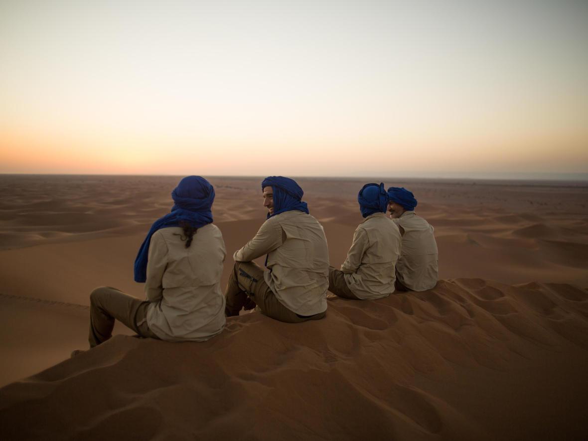 arrivée et encadrement trek dans le désert