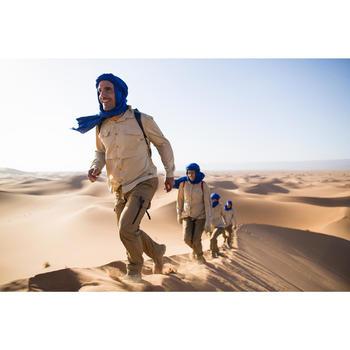 Herenhemd met lange mouwen voor woestijntrekking Desert 500 beige
