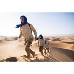 Trekkinghemd langarm Desert 500 Herren beige