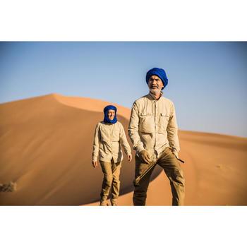 Guantes anti-UV de trekking en el desierto DESERT 500 MARRÓN