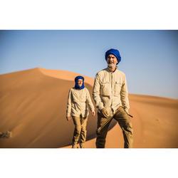 Uniseks overhemd met lange mouwen voor woestijntrekking Desert 500 beige