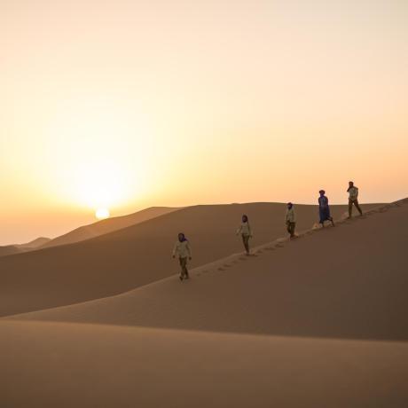 couché de soleil dans le sahara