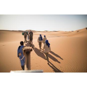 Chemise manches longues de Trekking désert DESERT 500 femme beige