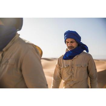 Herenhemd met lange mouwen voor woestijntrekking Desert 500 beige - 1287974