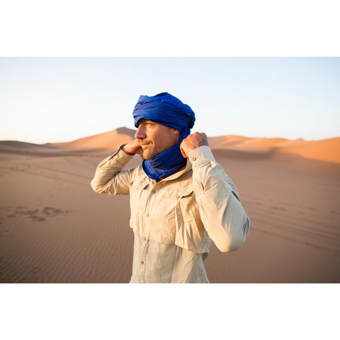 Herenhemd met lange mouwen voor woestijntrekking Desert 500 beige - 1287978