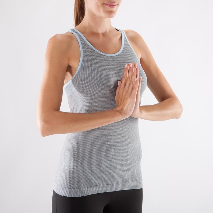 Débardeur sans coutures Yoga femme gris/bleu - 1287996