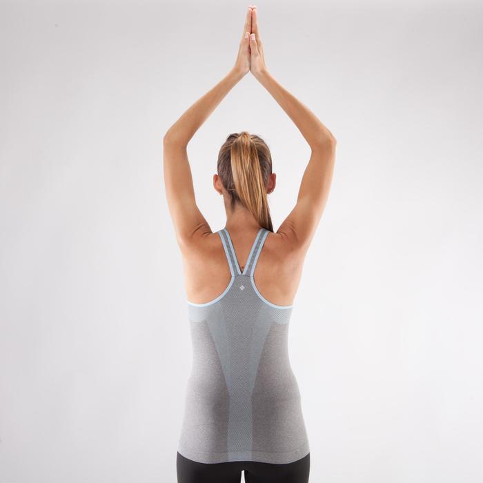 Débardeur sans coutures Yoga femme gris/bleu - 1287997