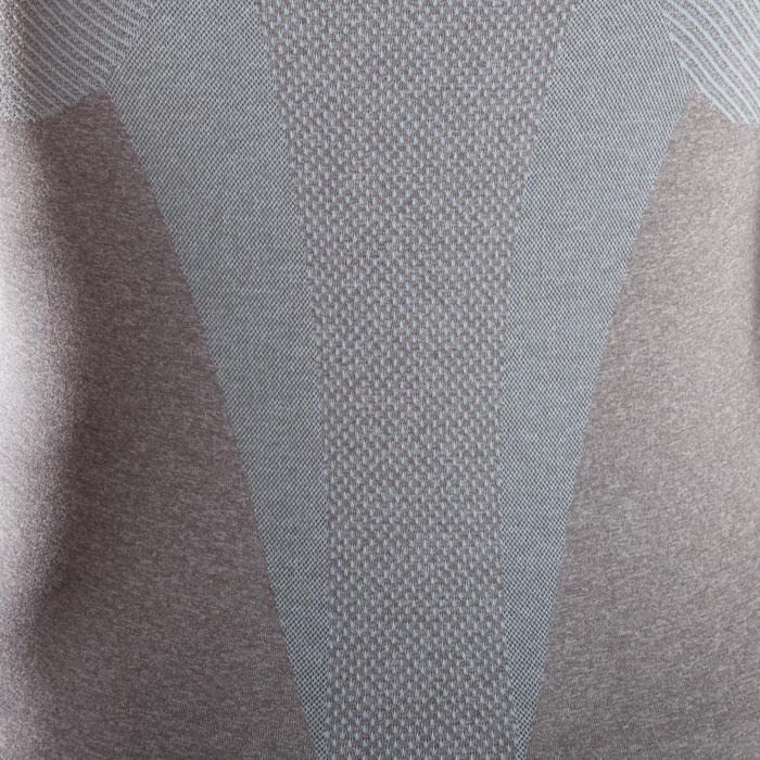 Débardeur sans coutures Yoga femme gris/bleu - 1287999