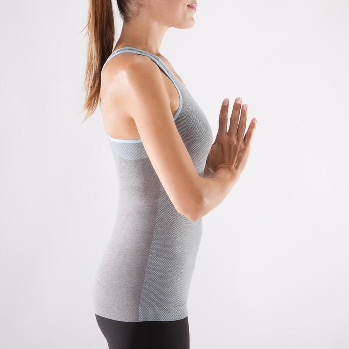 Débardeur sans coutures Yoga femme gris/bleu - 1288002