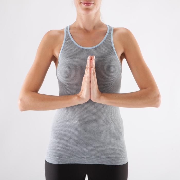 Débardeur sans coutures Yoga femme gris/bleu - 1288005