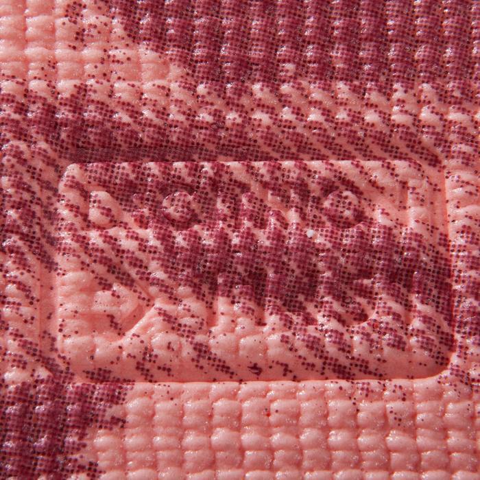 Domyos Tapis Yoga 8 Mm Rose Imprime Decathlon