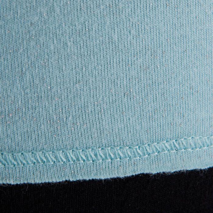 T shirt yoga doux femme en coton issu de l'agriculture biologique noir - 1288043