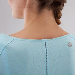 T-Shirt Yoga Damen hellblau