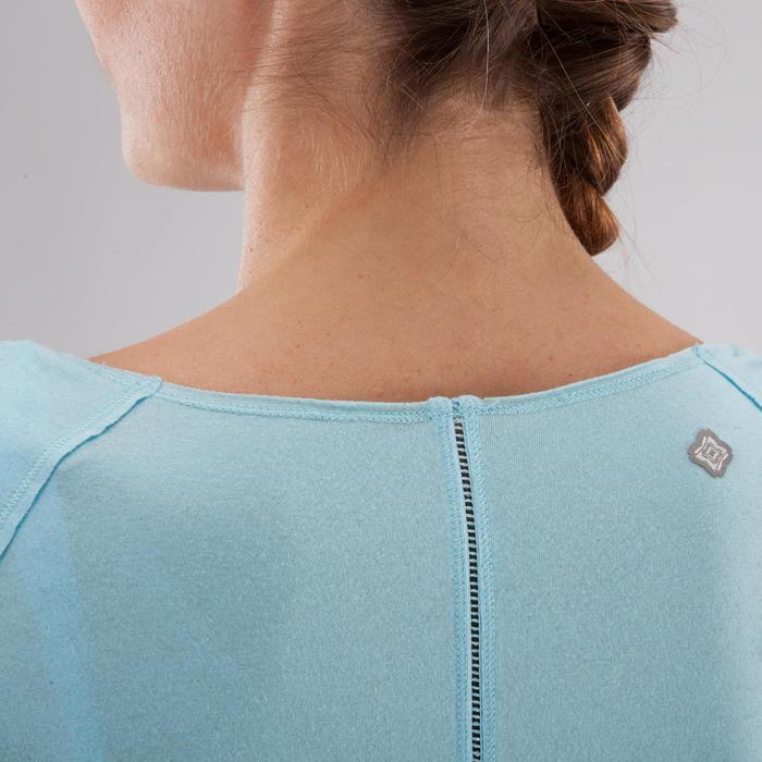 T shirt yoga doux femme en coton issu de l'agriculture biologique noir - 1288046