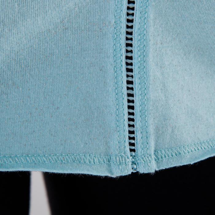 T shirt yoga doux femme en coton issu de l'agriculture biologique noir - 1288047
