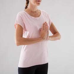 T-Shirt Yoga Damen rosa