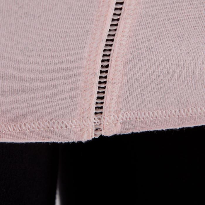 T shirt yoga doux femme en coton issu de l'agriculture biologique noir - 1288058
