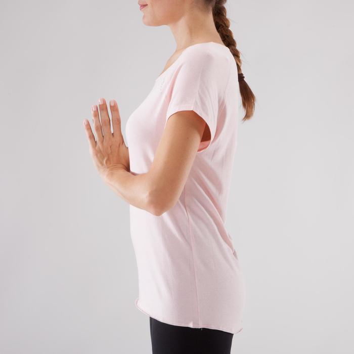 T shirt yoga doux femme en coton issu de l'agriculture biologique noir - 1288061