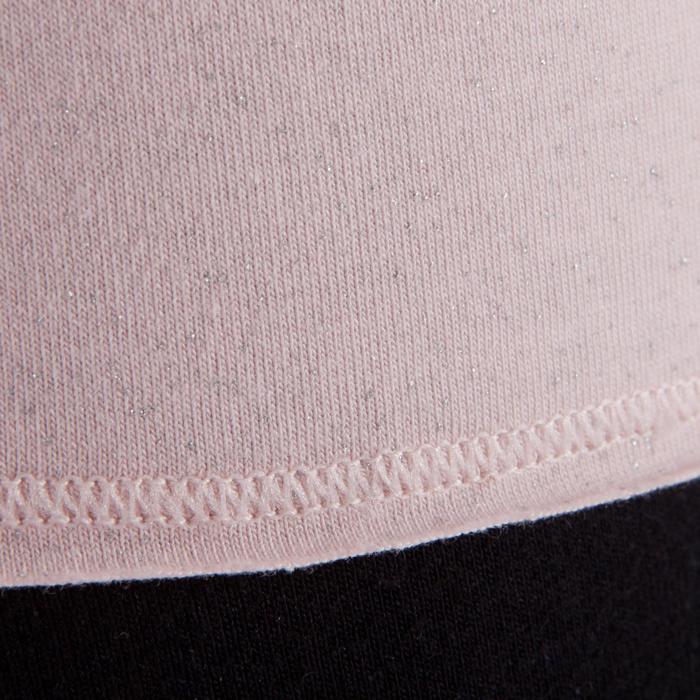 T shirt yoga doux femme en coton issu de l'agriculture biologique noir - 1288064