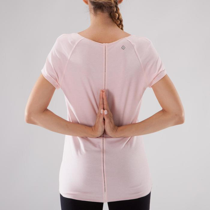 T shirt yoga doux femme en coton issu de l'agriculture biologique noir - 1288065