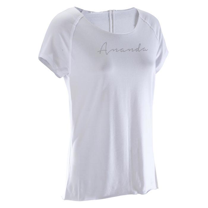 T shirt yoga doux femme en coton issu de l'agriculture biologique noir - 1288068