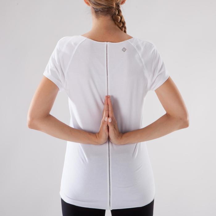 Camiseta de yoga suave para mujer de algodón de cultivo biológico blanco