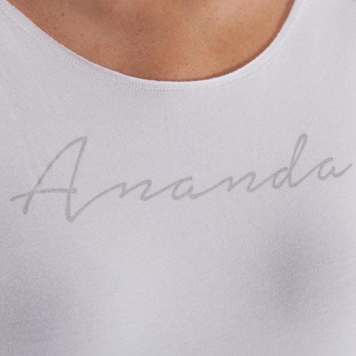 T shirt yoga doux femme en coton issu de l'agriculture biologique noir - 1288071