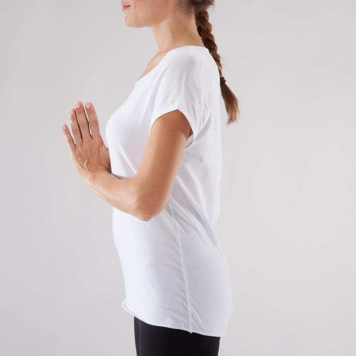 T shirt yoga doux femme en coton issu de l'agriculture biologique noir - 1288072