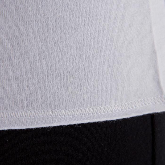 T shirt yoga doux femme en coton issu de l'agriculture biologique noir - 1288073