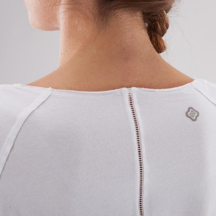 T shirt yoga doux femme en coton issu de l'agriculture biologique noir - 1288079