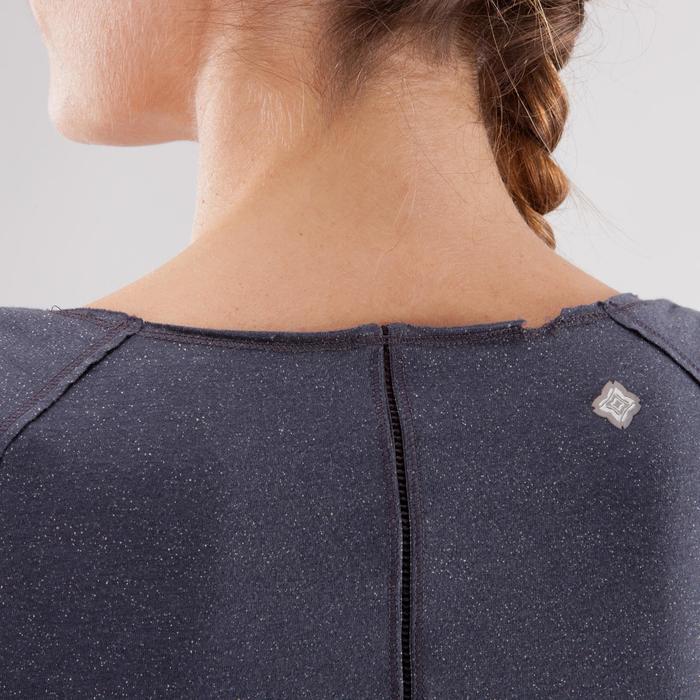 T shirt yoga doux femme en coton issu de l'agriculture biologique noir - 1288085