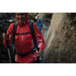 女款健行防雨外套Helium FH500-薄荷綠
