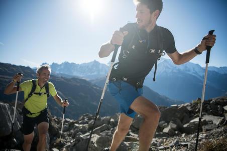 Men's Fast Hiking Short-sleeved T-shirt FH500 Helium - Navy Blue